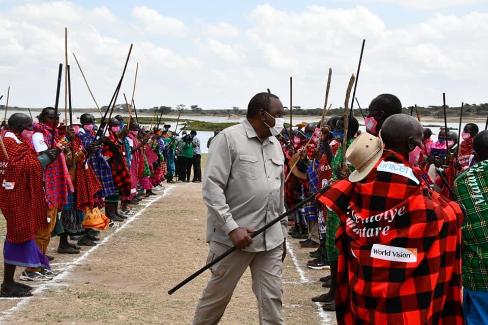 President Uhuru Presides Over Landmark Declaration to End FGM in the Samburu Community.