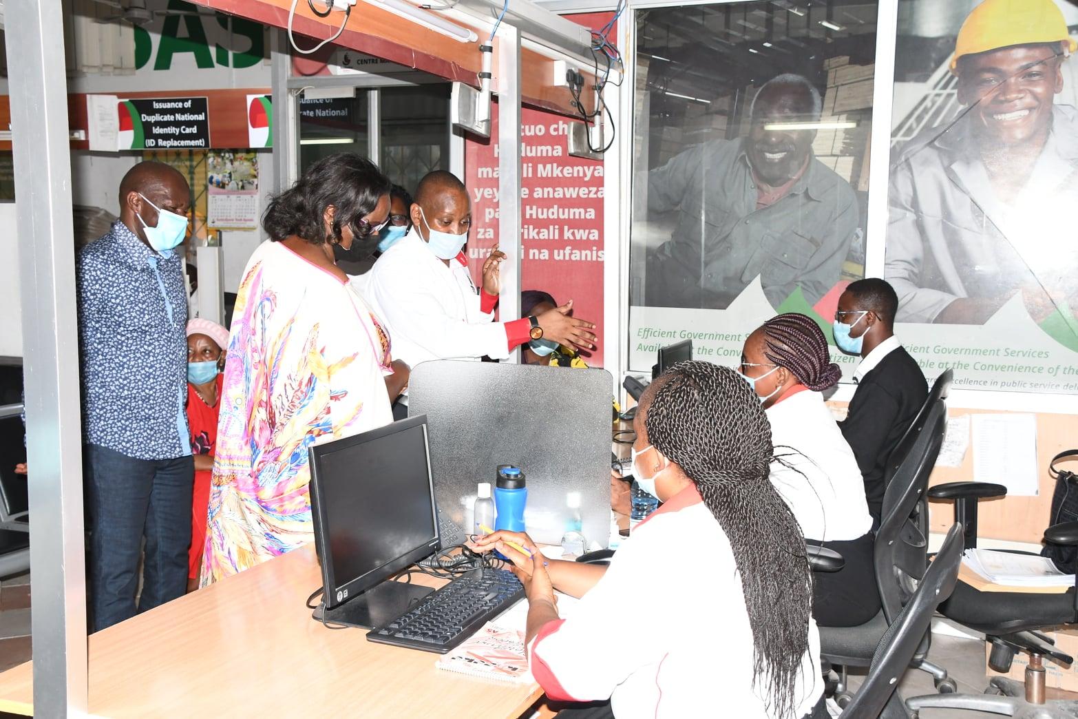 CAS Hon. Elachi Inspects Huduma Centre Mombasa
