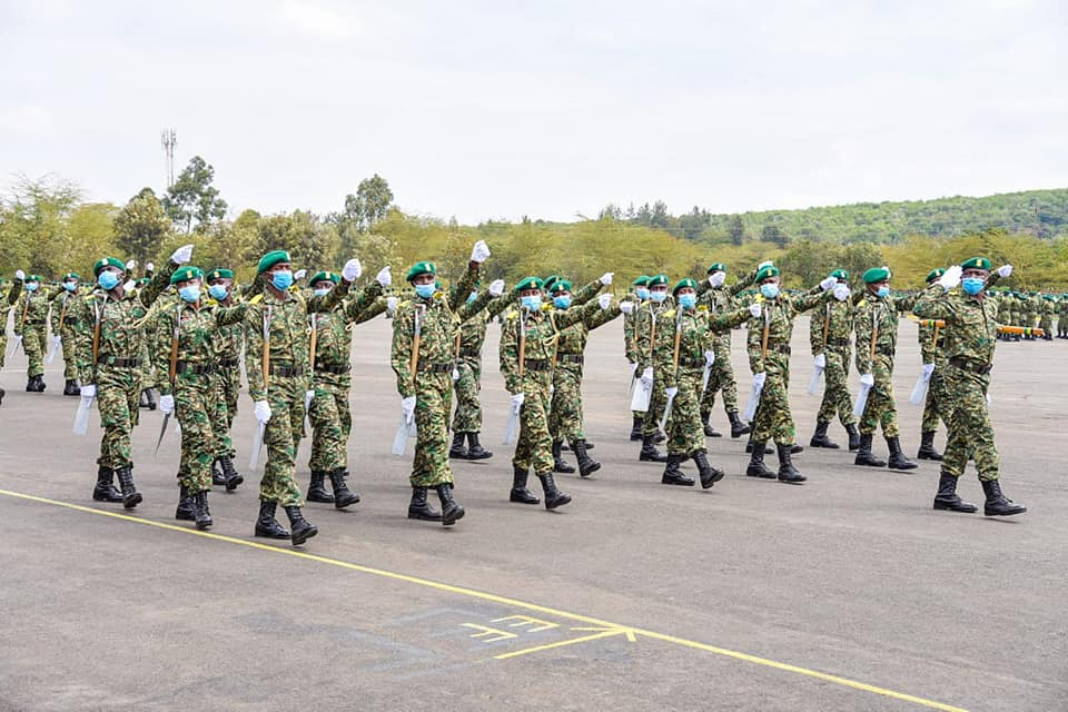 Passing out Parade of the  Newly Recruited National Youth Service (NYS) Privates